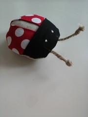 itty bitty ladybug pincushion