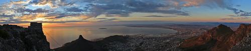 sunset tablemountain citybowl pandaonflickr