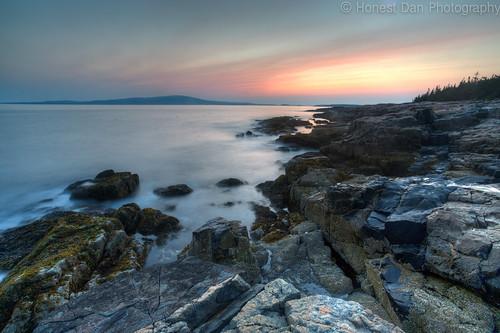 longexposure sunset seascape canon landscape maine hdr 6d 2015 arcadiapark winterharber