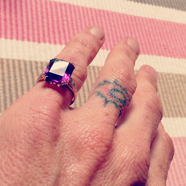 Old things: a broken knuckle, a bad tattoo & my Grandmothe