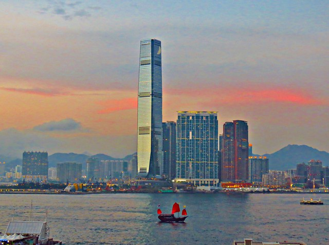 Sunset, West Kowloon, Hong Kong