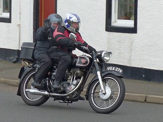 Jim on the 1957 Matchless G3LS 350cc | by Ayr Classic Motorcycle Club