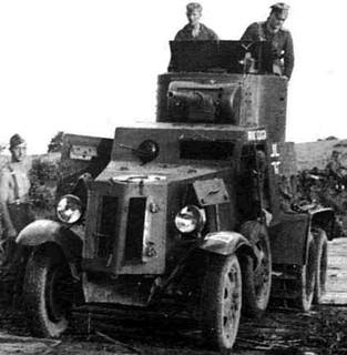 Немски трофейный БА-10 съветския бронеавтомобиль