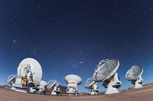 ALMA Antennas   by European Southern Observatory