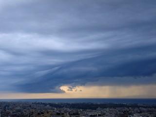 shelf cloud over the Saronic Gulf, 5 March 2012 | by Maria Di