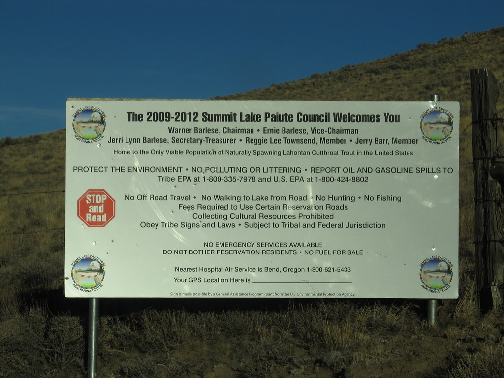 Entering Summit Lake Reservation, Summit Lake Paiute Tribe