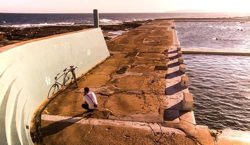 Bike Boy at the Ocean Baths