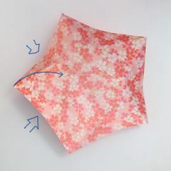 สอนวิธีการพับกระดาษเป็นดอกมะเฟือง (Origami Carambola) 009