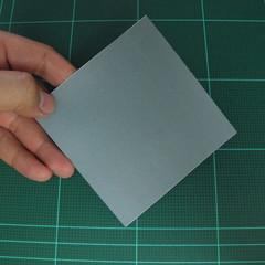 วิธีพับกระดาษเป็นรูปลูกสุนัข (แบบใช้กระดาษสองแผ่น) (Origami Dog) 002