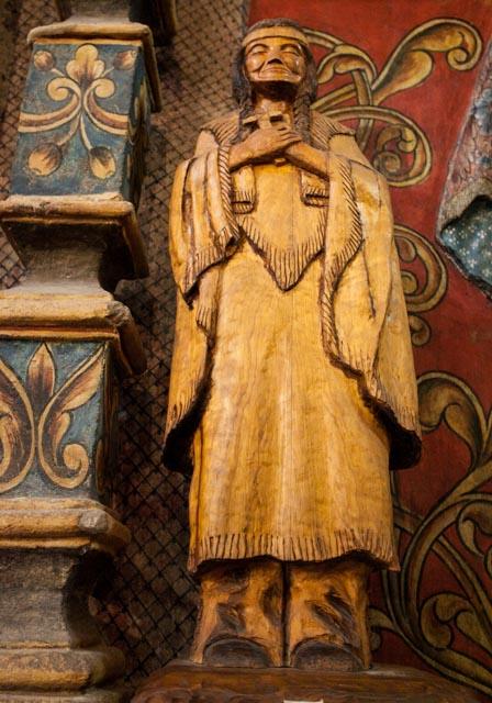 Interesting wooden statue