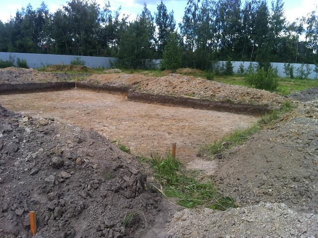 Выемка грунта под фундамент