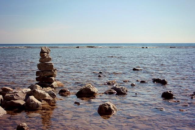 rock cairn off of M-185