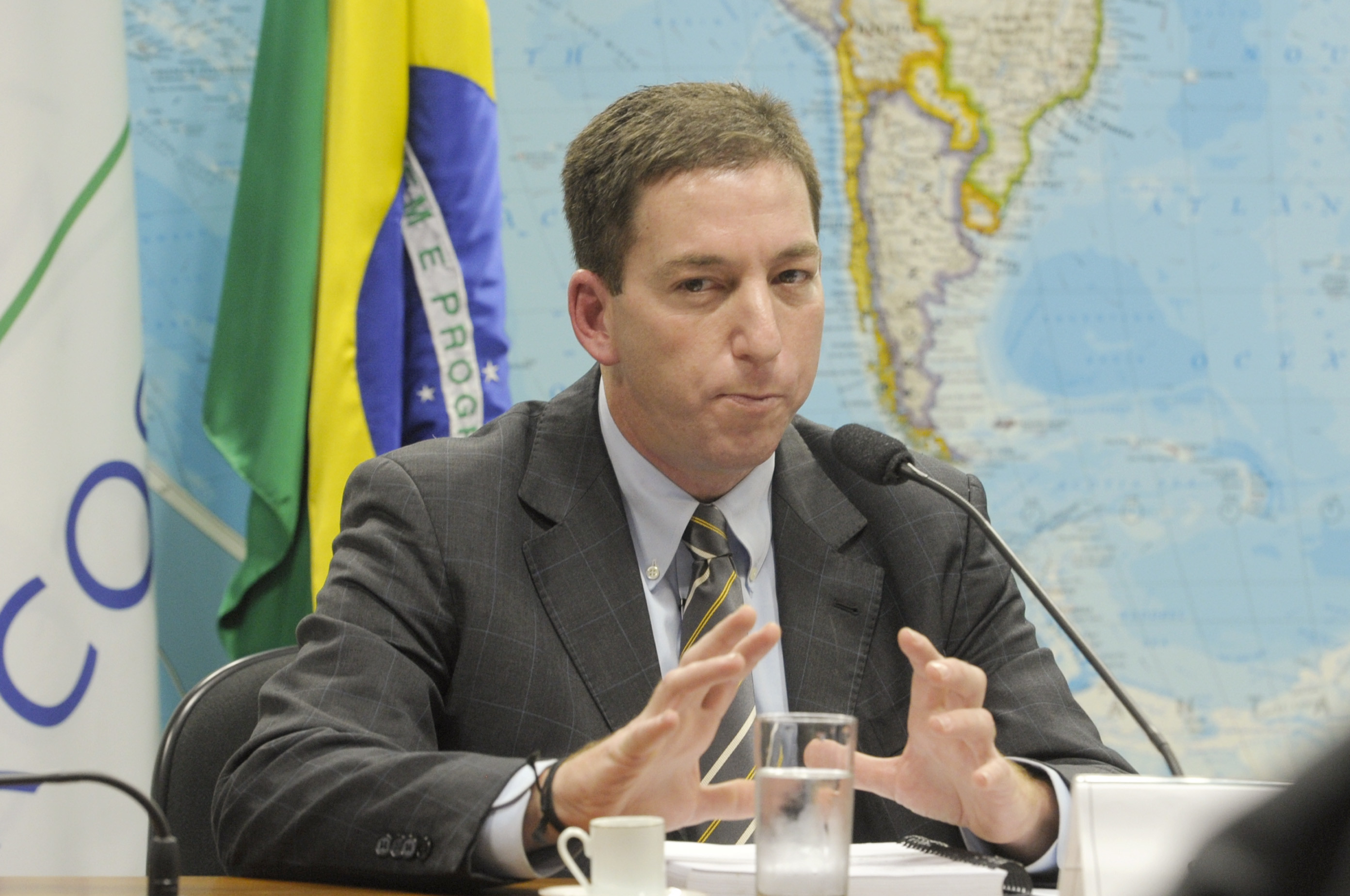 Jornalista Glenn Greenwald, do The Guardian,  participa de audiência pública