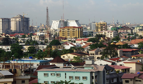 africa city houses house buildings island hotel town view victoria lagos nigeria vista overlook viewpoint eko megalopolis victoriaisland ekohotel