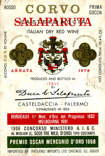 Italy - Corvo Salaparuta 1978