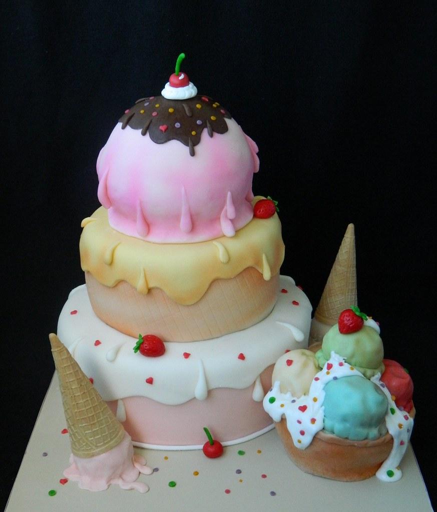 Ice Cream Wedding Cake.Icecream Wedding Cake Pixie Pie Flickr