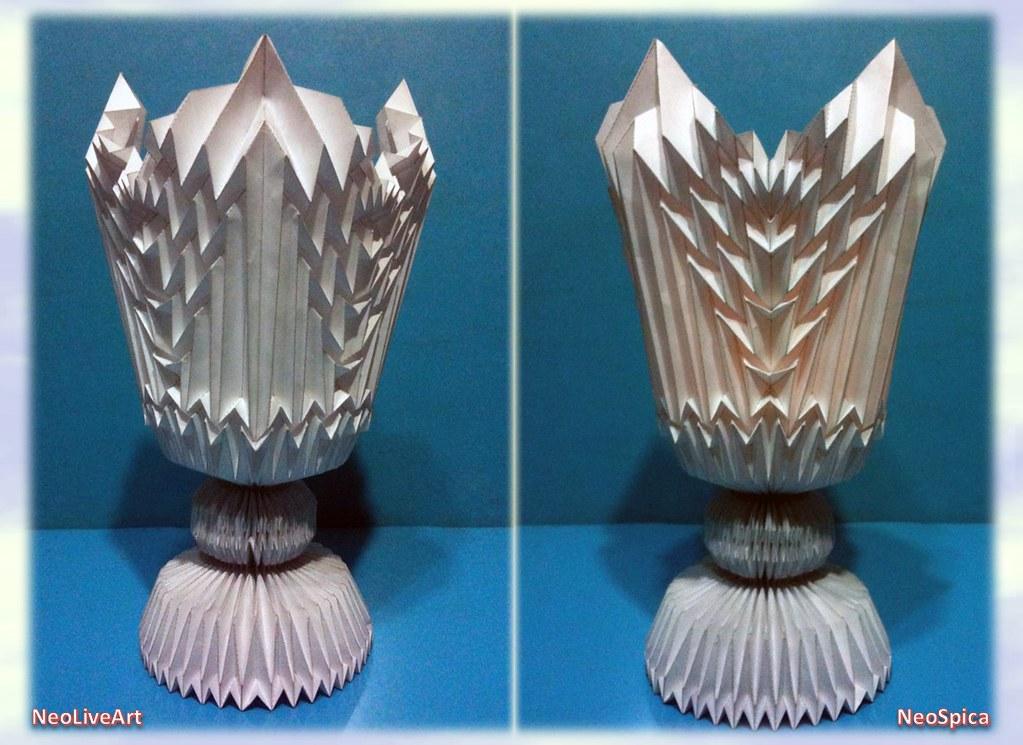 How To Make A Paper Design Flower Vase - DIY Easy Paper origami ...   745x1023