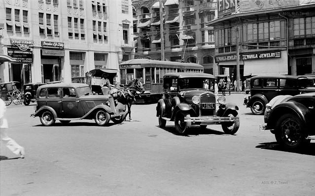 Plaza Moraga, Binondo, Escolta, Manila, Philippines, 1935