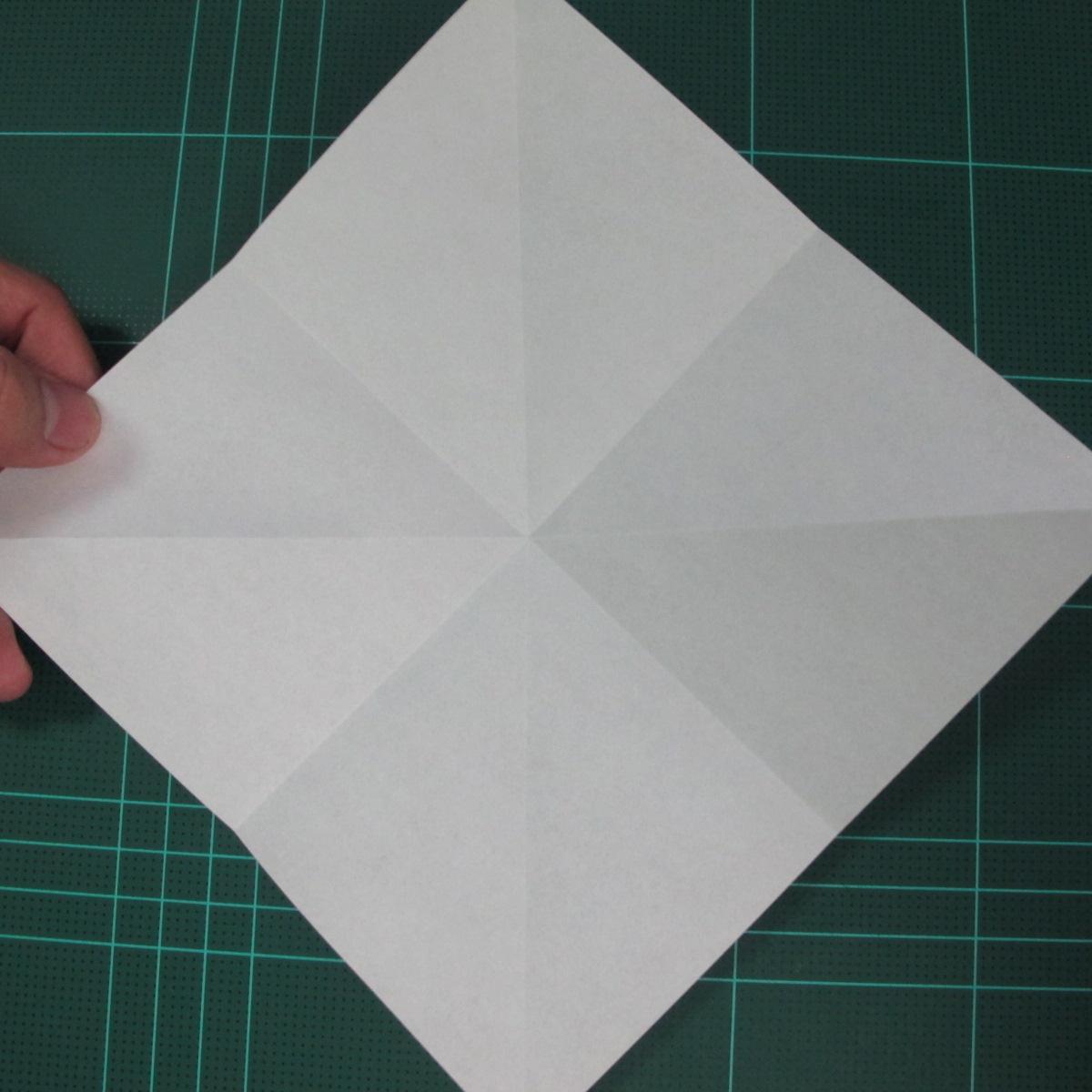 การพับกระดาษเป็นที่คั่นหนังสือหมีแว่น (Spectacled Bear Origami)  โดย Diego Quevedo 003