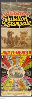 Promotional poster for the Calgary Exhibition and Stampede, Alberta / Affiche promotionnelle de l'exposition et du Stampede de Calgary (Alberta)