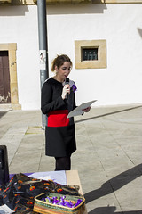 La concejala Beatriz Gámiz dedica unas palabras a las personas asistentes al acto.