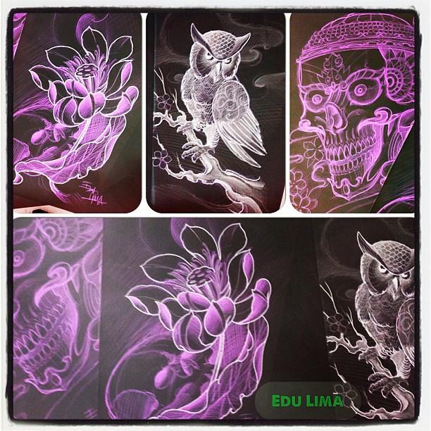 Desenhos Tattoo Tatuagem Edu Flower Lotus Coruja C Flickr