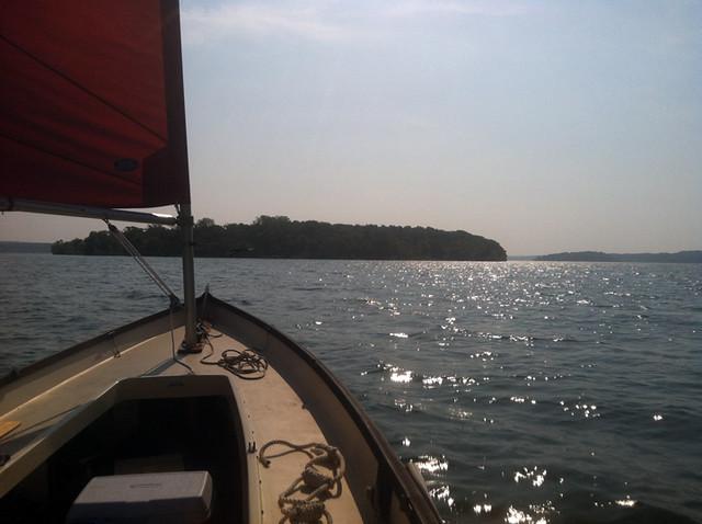 Sailing Stockton Lake