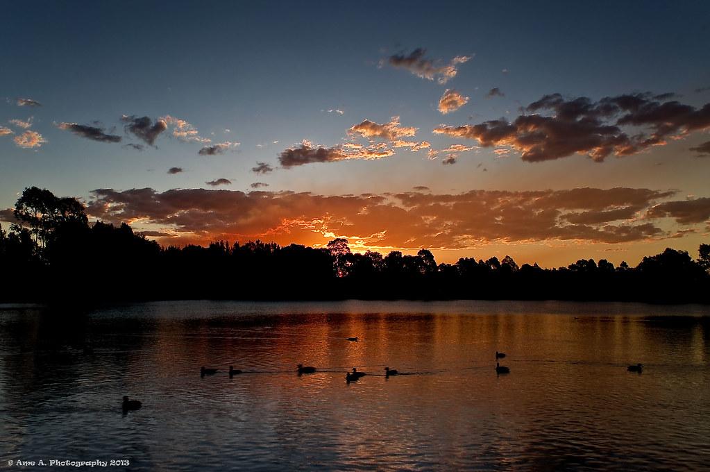 Sunset - Woodcroft Lake, Woodcroft NSW