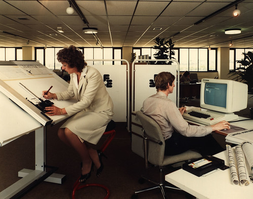 Office workers in the early 1980's | by Tyne & Wear Archives & Museums