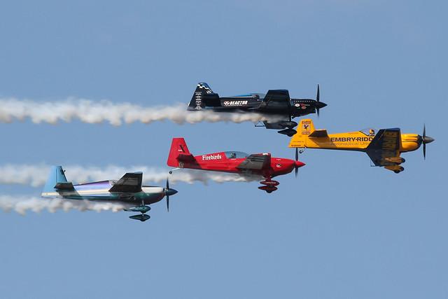 4 ship Aerobatic display, part of the daily airshow at Sun 'n Fun 2013
