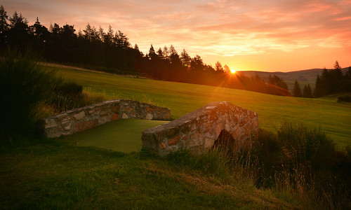 bridge club sunrise golf scotland fairway 9th moray dufftown