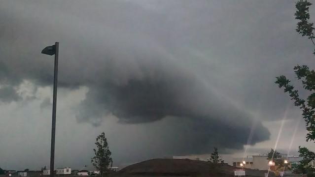 092713 - Late September Nebraska Shelf Cloud!