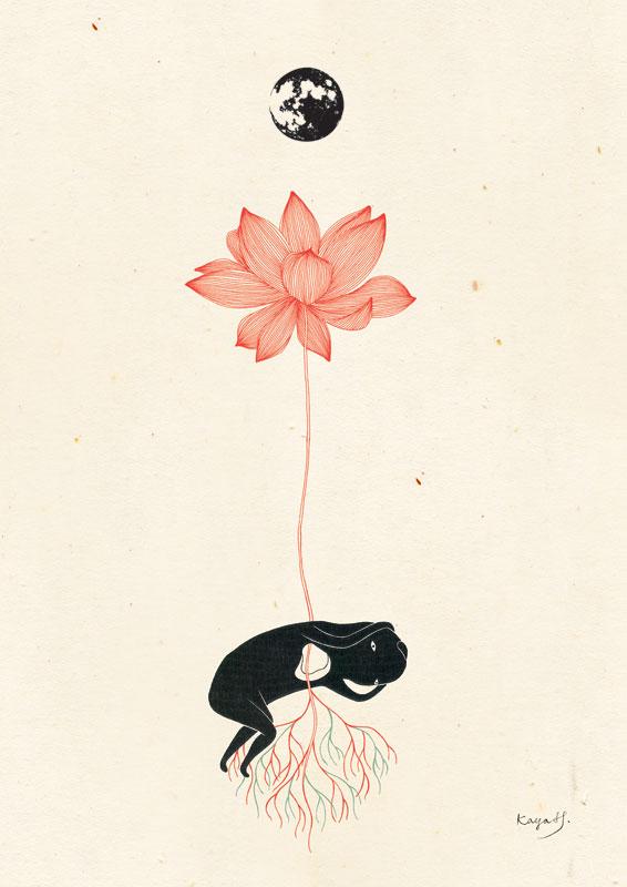 Inspired By Radiohead Lotus Flower 2012 Kaya Huang