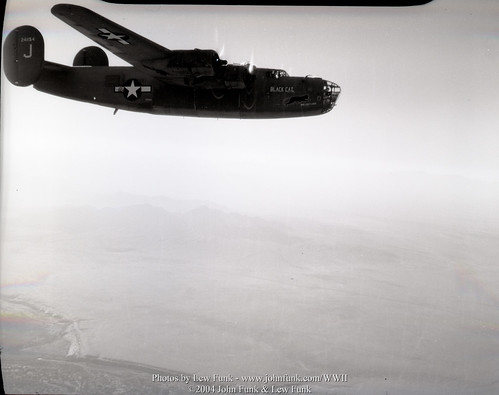 "B-24 Liberator 42-41154  ""Black Cat"" over Blythe CA 12-15-1943 