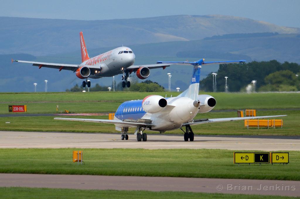 Easyjet A320 and BMI Regional Embraer ERJ-135