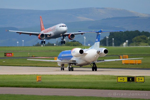 Easyjet A320 and BMI Regional Embraer ERJ-135