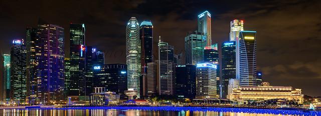 Singapour (Quartier d'affaire de Marina Bay)