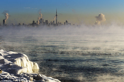 winter mist toronto ontario canada winterscape torontoskyline torontowinter torontosunrise