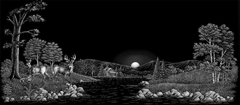 Deer family water cabin