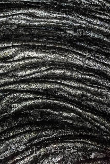 Cords of Freshly Hardened Lava on the Big Island of Hawaii