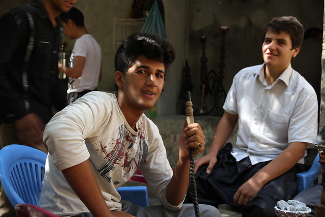 Joven iraní en Palangan