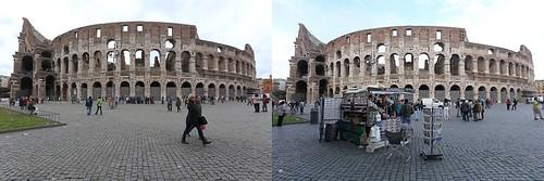 ROMA ARCHEOLOGIA e BENI CULTURALI: IL FOTOCONFRONTO - Colosseo, effetto Obama: spariscono ambulanti e carrozzelle, LA REPUBBLICA e ROMA FA SCHIFO (27|03|2014).
