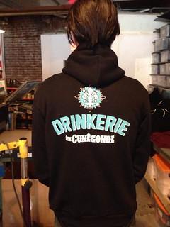 Makin' sweet hoodies for The Drinkerie! | by INPrint