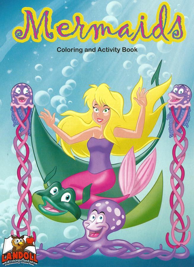 "Landoll Publishing Company :: ""Mermaids"" Coloring & Activity Book (( 2013 )) by tOkKa"