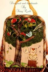 Handmade little cat traveling purse, zakka style