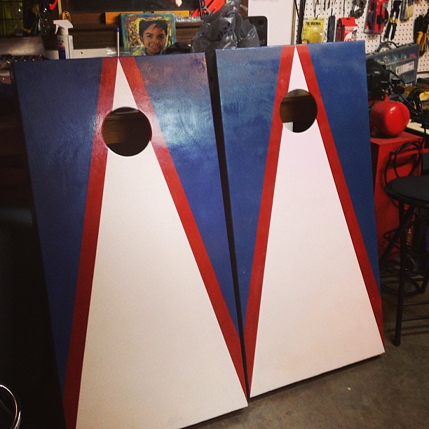 Surprising Todays Evening Project Was Painting New Cornhole Boards Pdpeps Interior Chair Design Pdpepsorg