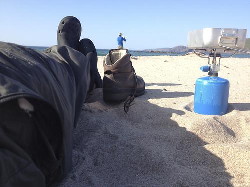Sandwood bay - '9ml of butane will boil a litre of water' - Lightweight Paul | by Guy R