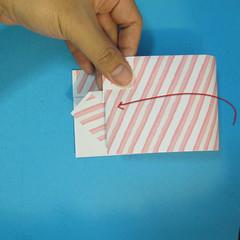 วิธีพับกล่องกระดาษรูปหัวใจส่วนฐานกล่อง 029