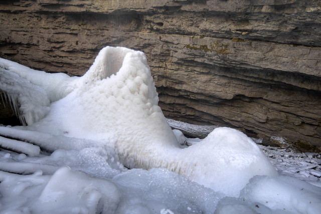Ice cone, Putnam County, Tennessee