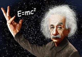 Albert Einstein - Caricature | by DonkeyHotey